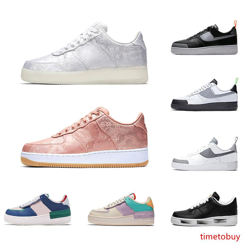 2020 zapatos del patín para mujer para hombre zapatillas de deporte de la plataforma CLOT pálido marfil ruido Construcción Qué Los Hombres LA entrenador deportivo Casual 36-45