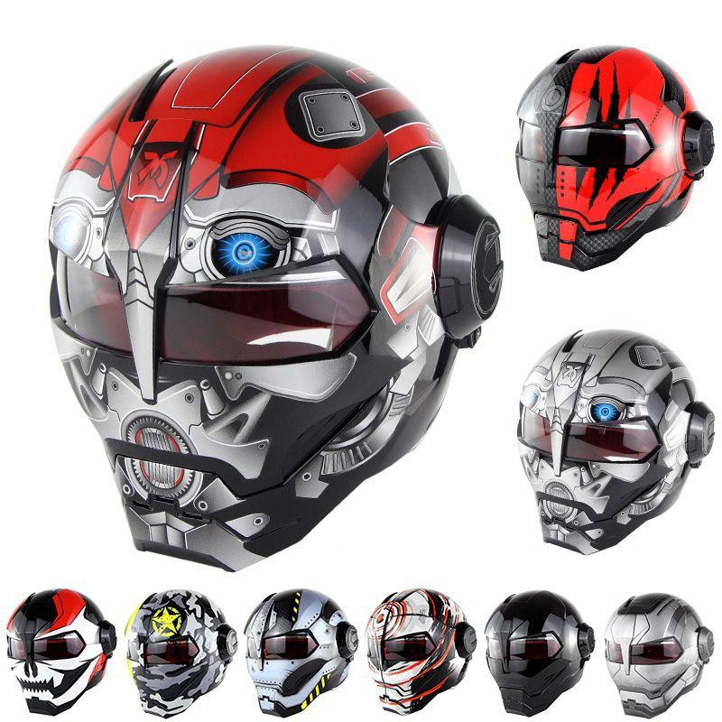 War Machine Gray Mens Womens Iron Man Helmet Motorcycle Helmet Half Open Face Abs Casque Motocross Dot Approved Full Face Motorcycle Helmets Cheap