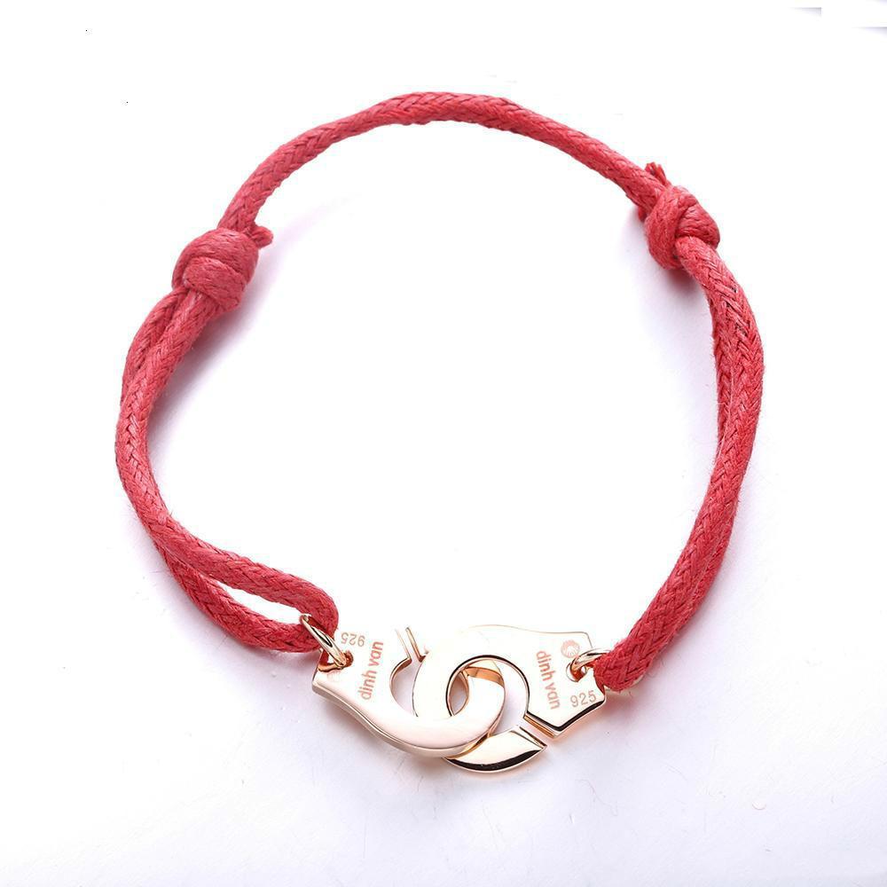 Charms 925 Preis Frankreich Schmuck Armband für Frauen Fashion Jewelry Sterling Silber Seil Handcuff Armband