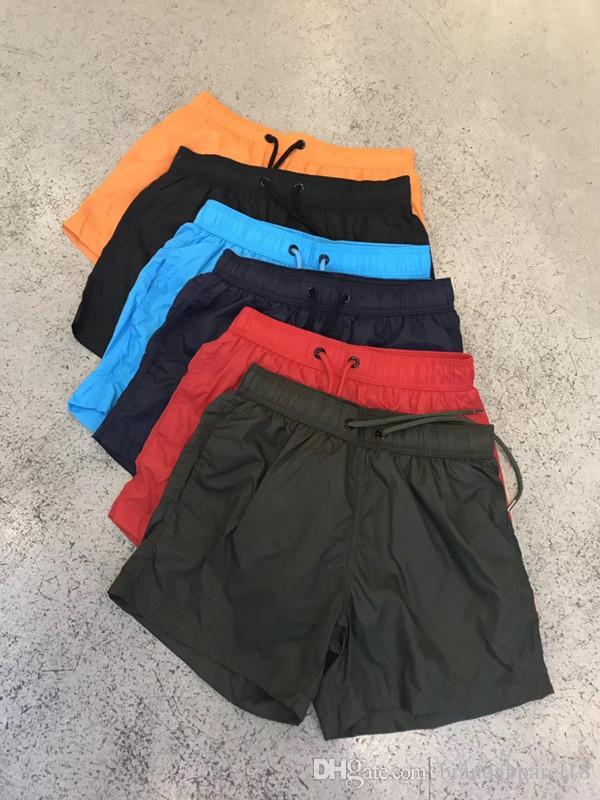 Nova Marca Shorts Mens Verão Praia Shorts Calças de alta qualidade do transporte Swimwear Bermuda Masculino Carta Surf Life Homens Swimsuit gratuito
