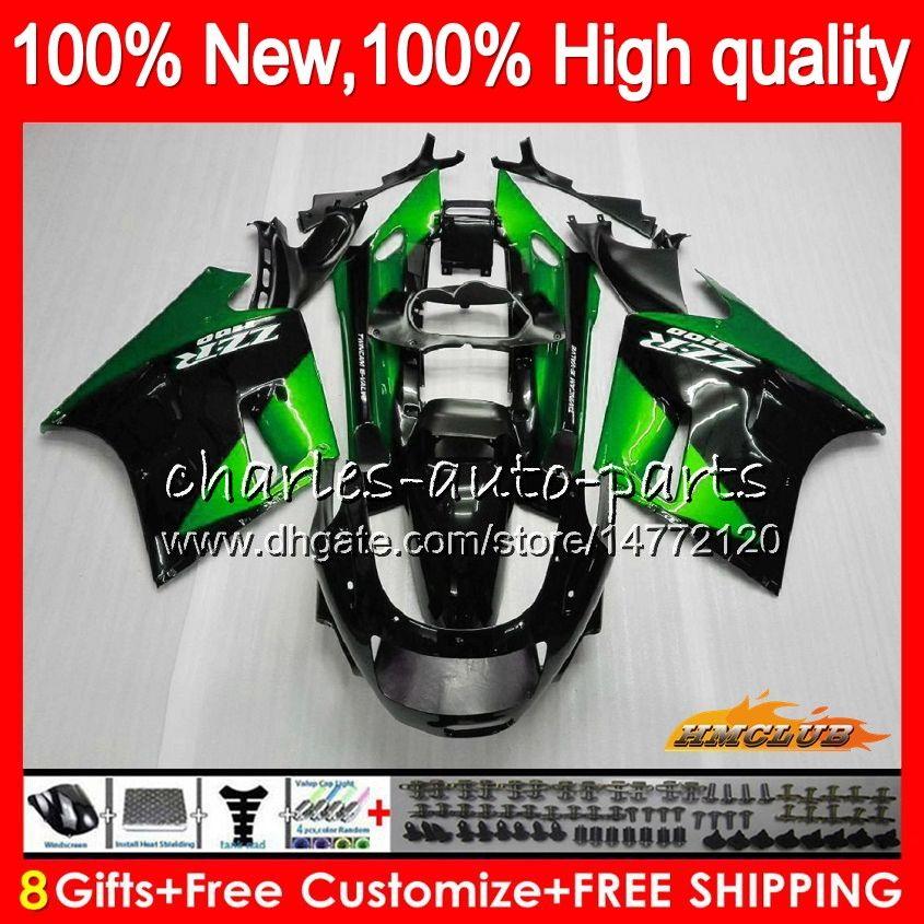 BodyForKAWASAKIZZR1100ZX-11Rblack green ZZR1100CCZX11R30HC.79ZZR-1100ZX-11RZX11RZX11R909192199019911992Fairingkit