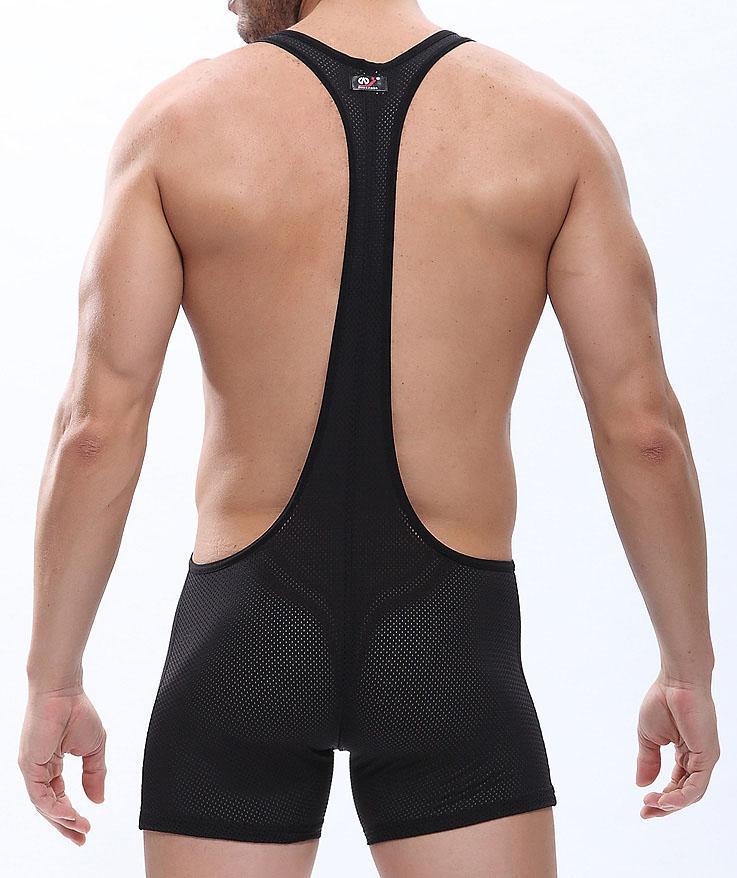 Marca Sexy Homens Underwear Boxers Malha Bodysuit Shorts Corsets Masculino Body Trunks Engraçado roupas Jumpsuits Gay Lingerie Sexy Gay