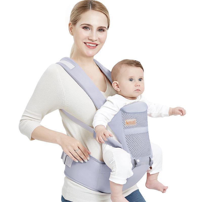 Quatro Posição 360 Algodão Ergonômico Transportadora Infantil Mochila Para 0-36 Meses Crianças Carrinho de Bebê Criança Estilingue Envoltório Suspensórios Y190522