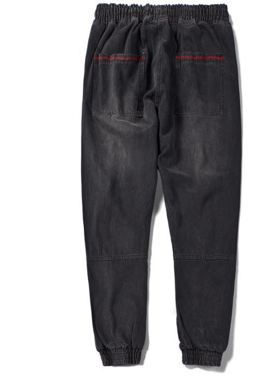 Мужчины Дизайнер подростковая Гарем Джинсы Весна Повседневная Jogger Брюки Сыпучие Плюс Размер Hiphop Жан Pantalones