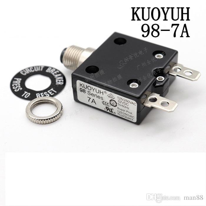 Interruptor de Taiwán KUOYUH 98 Serie-7A Sobrecorriente protector de sobrecarga