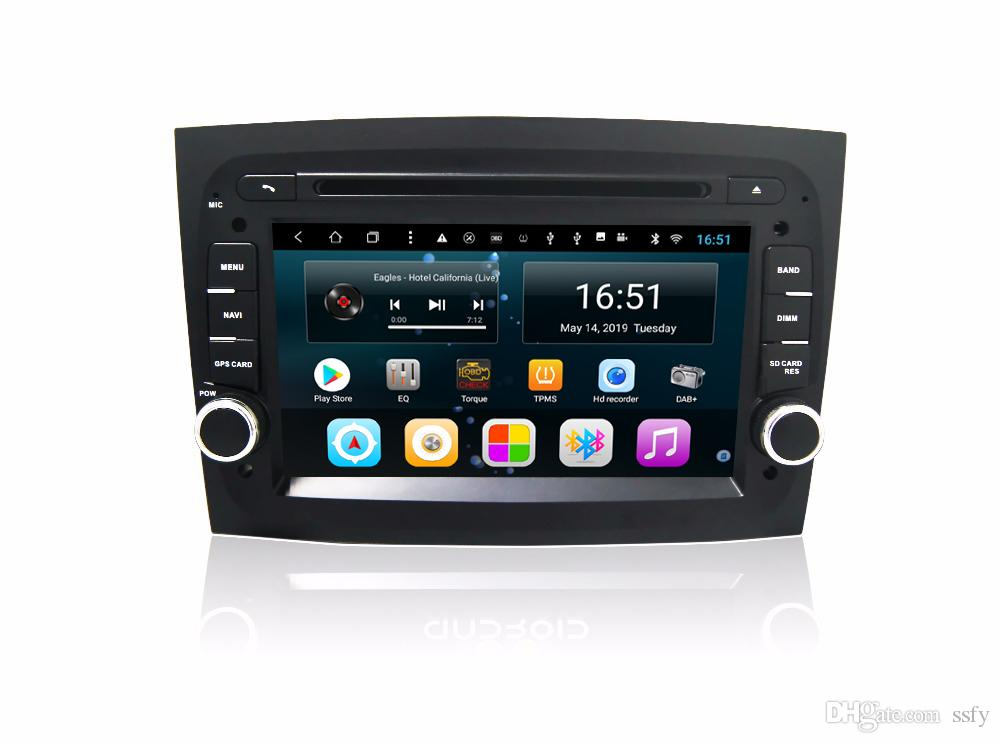 Android car radio with precise GPS multimedia player vidio music Resolution HD 1024* 600 excellent microphone for Fiat new doblo 7inch