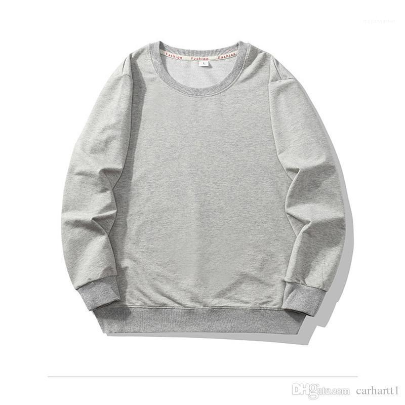 Spring Pullover Loose Solid Color Homme Sweatershirts Mens Designer Crew Neck Hoodies Fashion Casual Long Sleeve