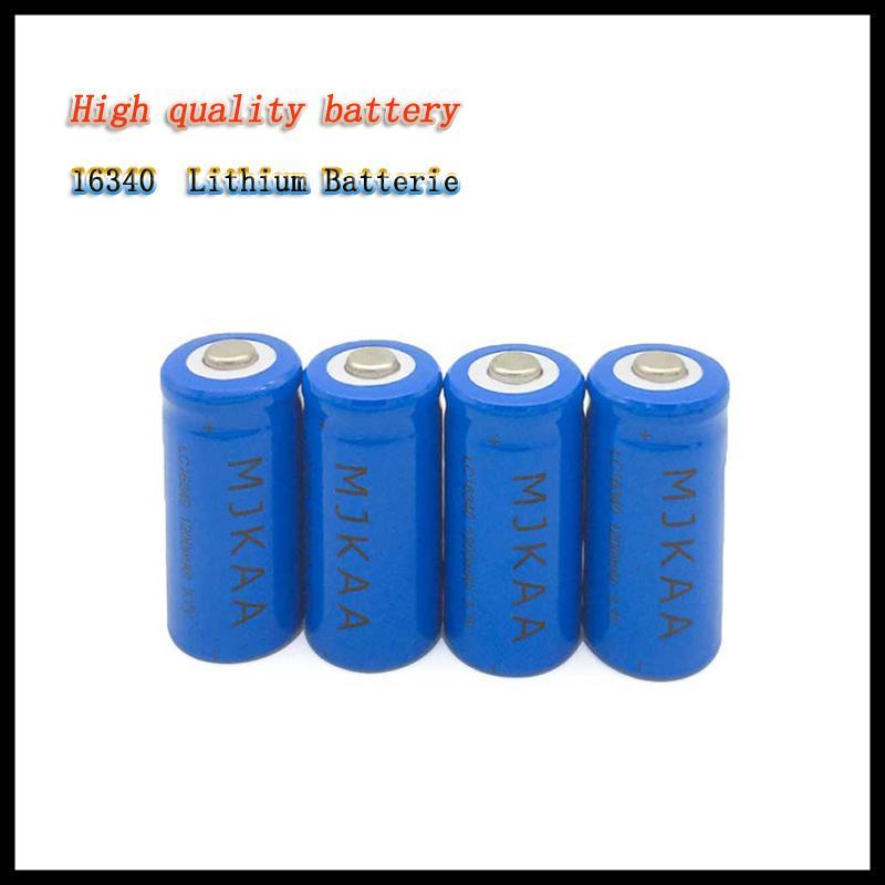 50 PCS 3.7 V 1200 ماه ليثيوم أيون ليثيوم 16340 بطارية CR123A اكوس 3،7 V CR123 الفراء الليزر STIFT LED Taschenlampe Zelle