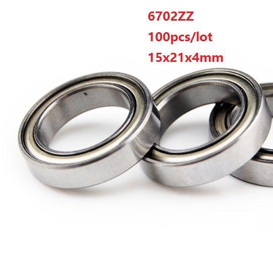 Metal Shielded Ball Bearing Bearings 6702z 15*21*4 15x21x4mm 100 PCS 6702ZZ