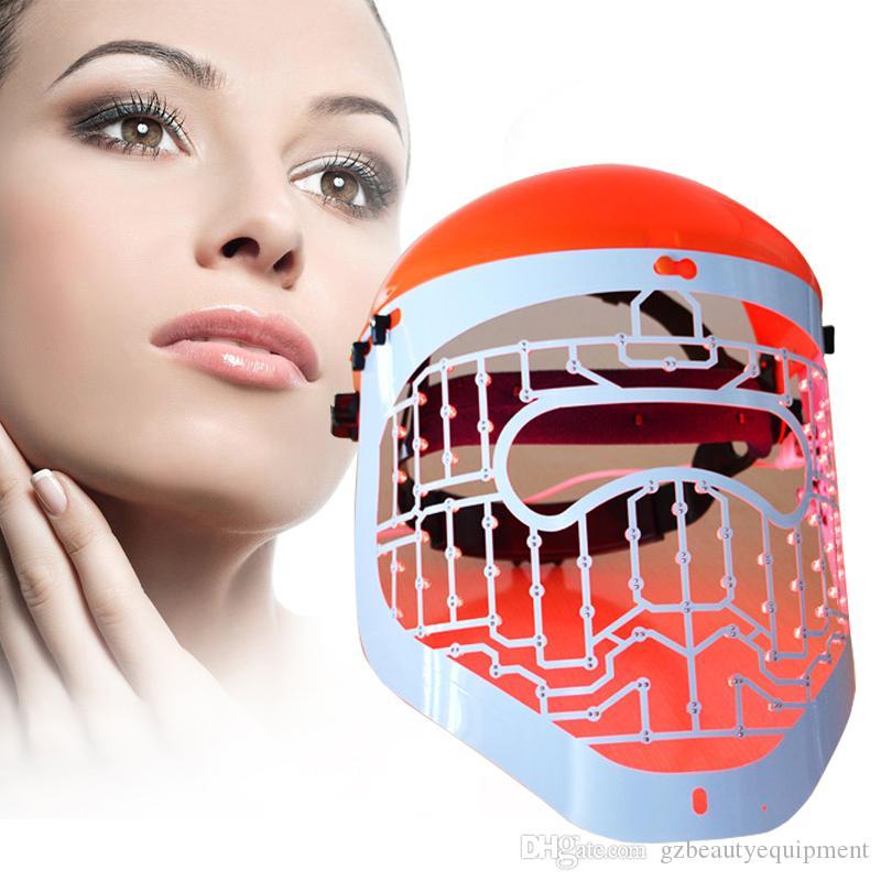 Máscara facial Mascarilla de fotón de 3 colores Tratamiento de luz Cuidado de la piel Antienvejecimiento Eliminación de arrugas Spa Máscara de belleza