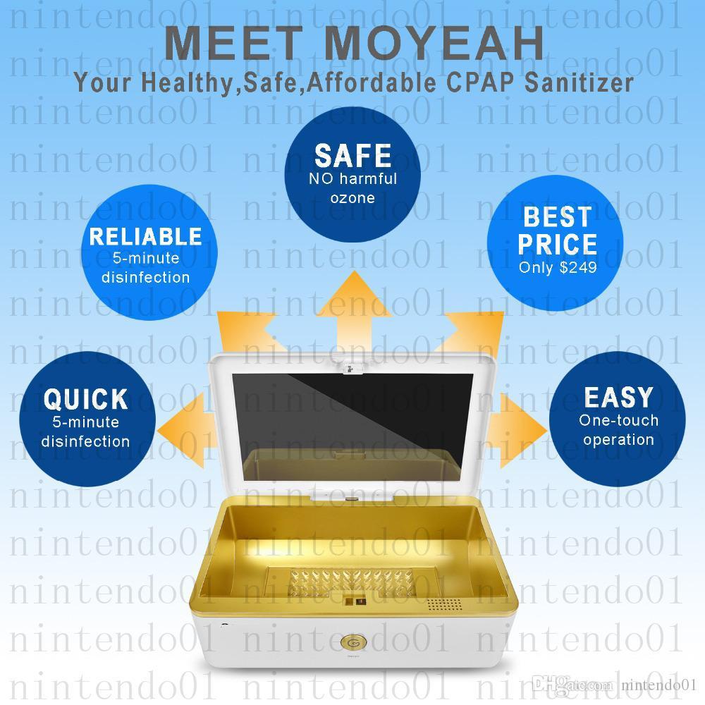 MOYEAH Taşınabilir Dezenfektanı CPAP Temizleyici Malzemeleri Ozon Ücretsiz UV CPAP Maskesi Tüp Maske için