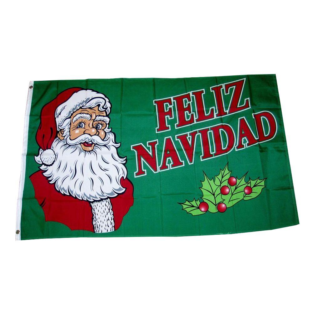 Фелис Навидад флаг Счастливого Рождества флаг 3x5 футов баннер 100D полиэстер латунь люверсы пользовательские флаг, Бесплатная доставка