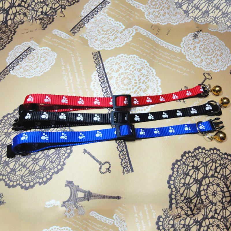 Heiße reizende kleine Abdruck Hundehalsband Nylon-Gewebe mit Bell-Kätzchen Welpen Kettenhundekatze-Kragen
