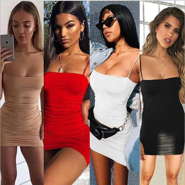 gonna lunga 2019 donne estate di approvvigionamento del commercio estero europeo e vestito piega americana sexy superiore del tubo marsupio