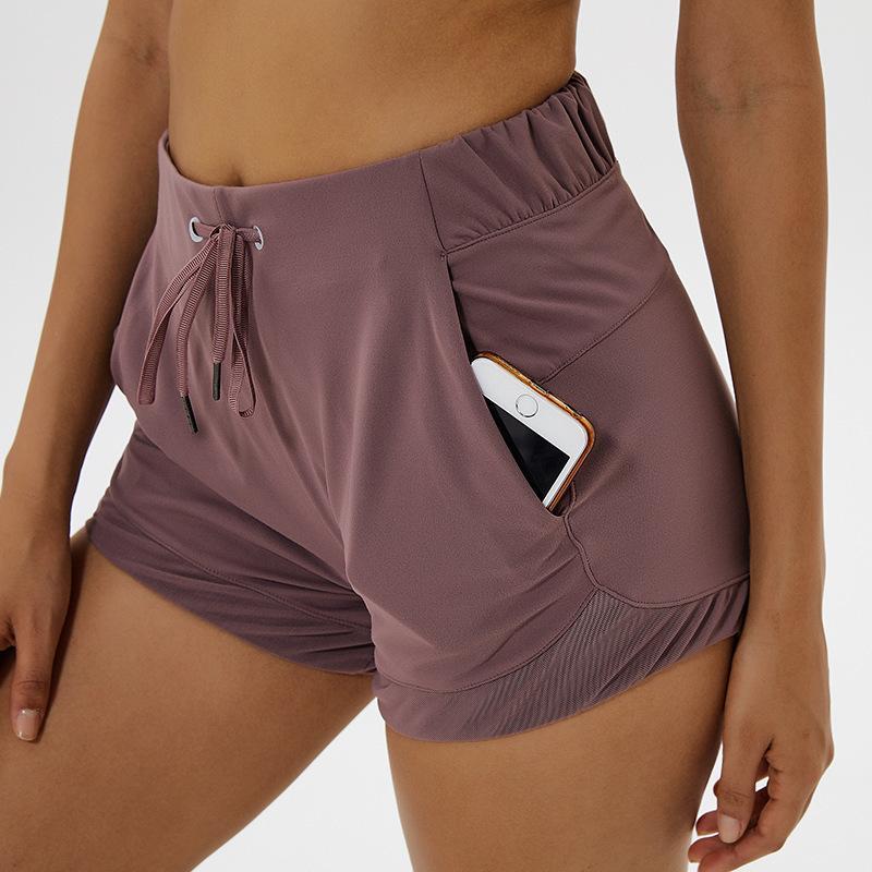 NWT 2020 Bauch-Steuer Yoga Shorts Capris für Frauen mit Telefon-Taschen Workout Laufsporthose mit Taschen T200503