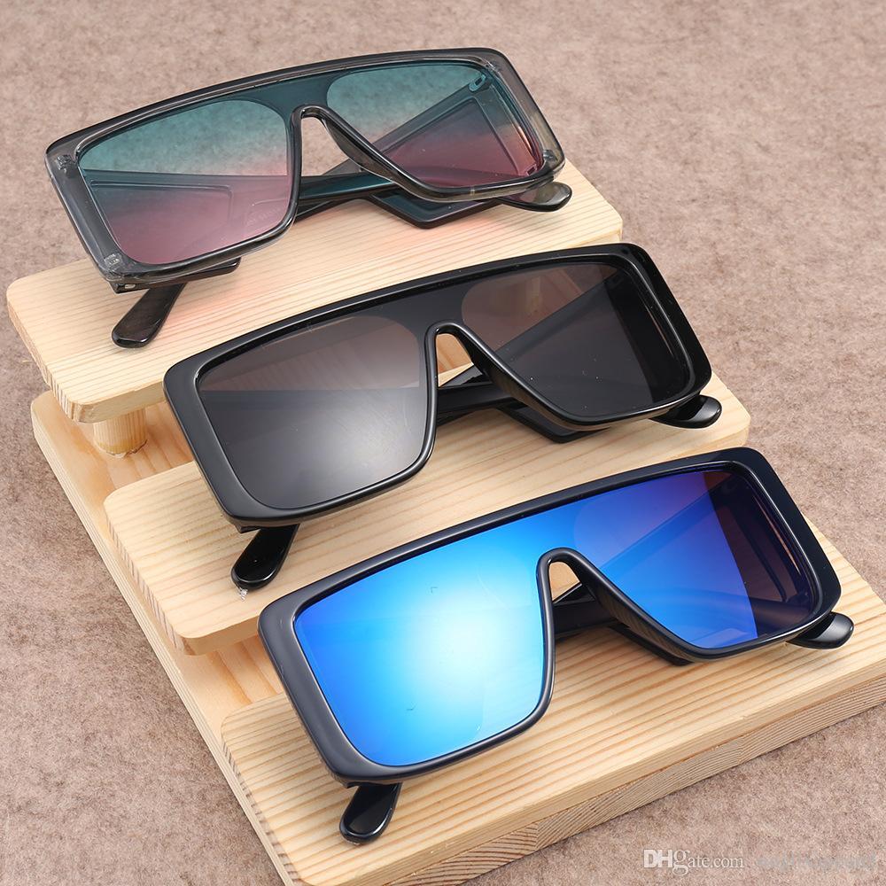 Piazza Vintage siamesi degli occhiali da sole unisex Vintage telaio PC 4 Lens quadrati siamesi occhiali da sole caldi Retro Sunglasses