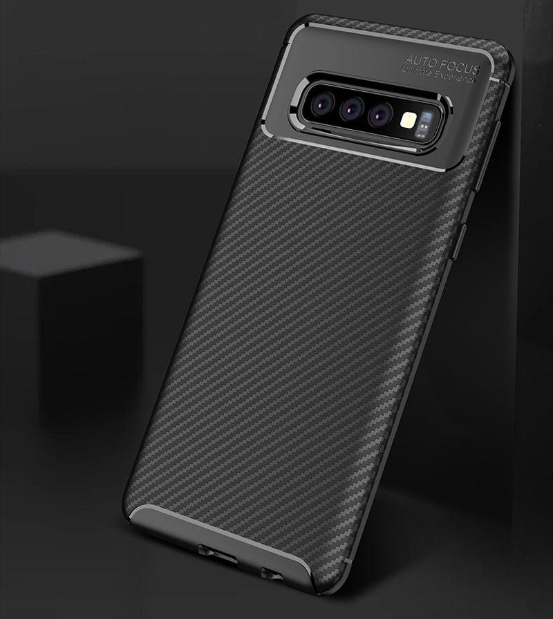 Coque GalaxyS10 Couvertures En Silicone En Fiber De Carbone Pour Samsung Galaxy S10 + Étui S10 Plus S10e Smartphone Cases s10plus