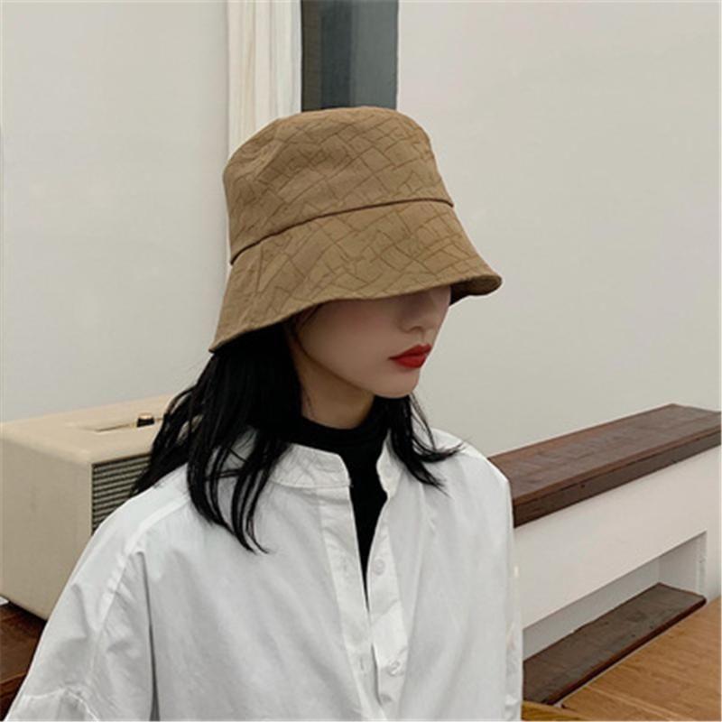 ressort de chapeau de pêcheur version coréenne du soleil-ombrage été casual chapeau simple droite japonais seau WS-2204