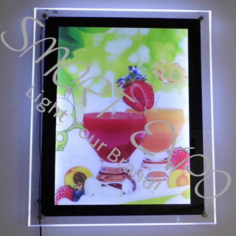 60*80cm Retail Store Poster Display Panel with Acrylic Panel LED 2835 Side-Lit Strong Wooden Case Packing