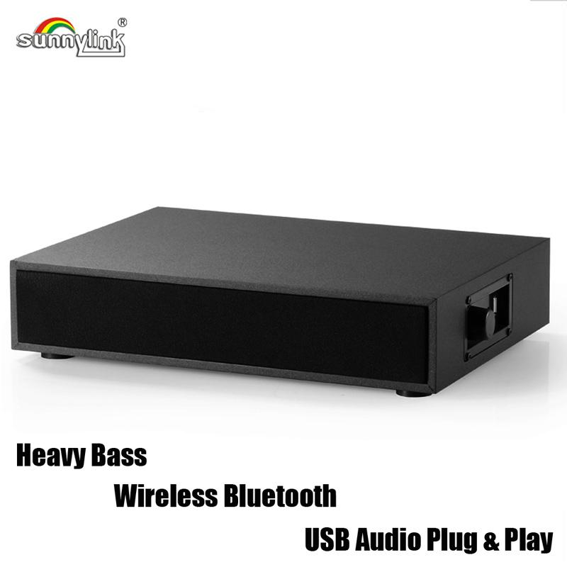 """POWERFUL 2.1CH BLUETOOTH SOUND BASE SPEAKER, COMPUTER BLUETOOTH SPEAKER BASE , WITH 4.0"""" BUILT-IN HEAVY BASS SUBWOOFER FOR COMPUTERS/LAPTOPS"""