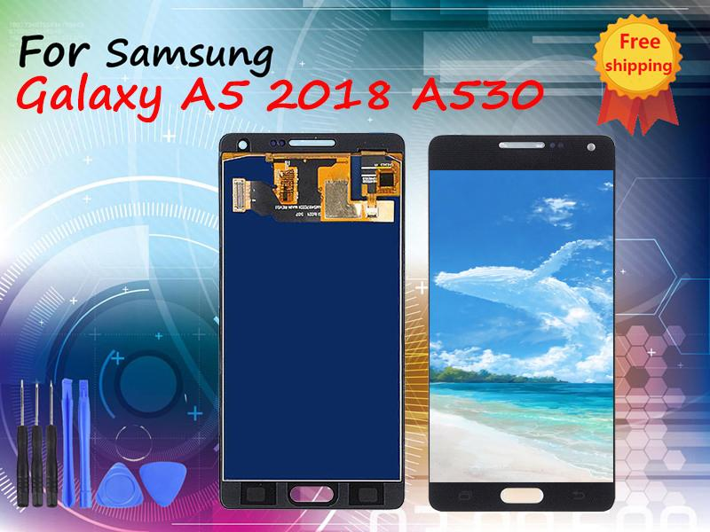 For Samsung Galaxy A5 2018 A530 A530F A530F/DS Original LCD Display Touch Screen Digitizer Assembly Free Shipping DHL 2 years warranty
