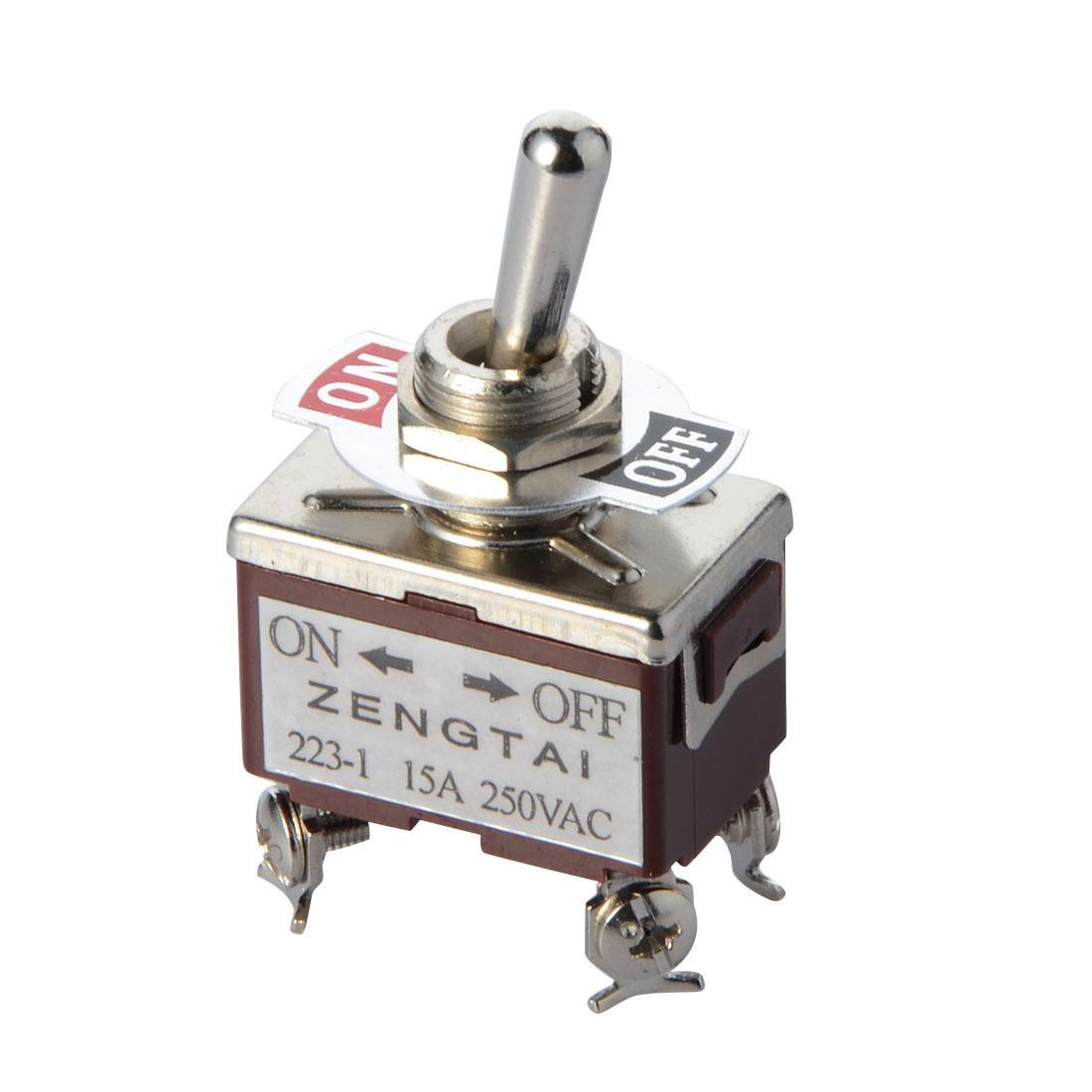 유니버설 교체 ON / OFF / ON 상세 정보 2P2T DPDT 토글 스위치 AC 250V / 15A