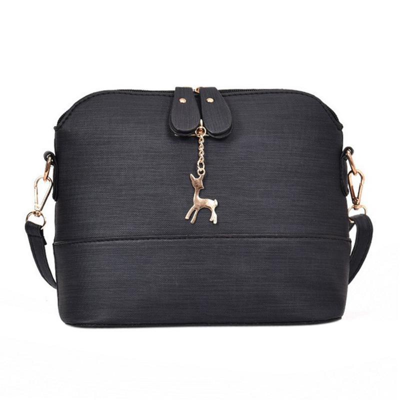 Nova moda saco do mensageiro das mulheres Shell pequeno Bag Vintage Leather Handbag Pacote Casual Mulheres ombro bolsas e bolsas g15