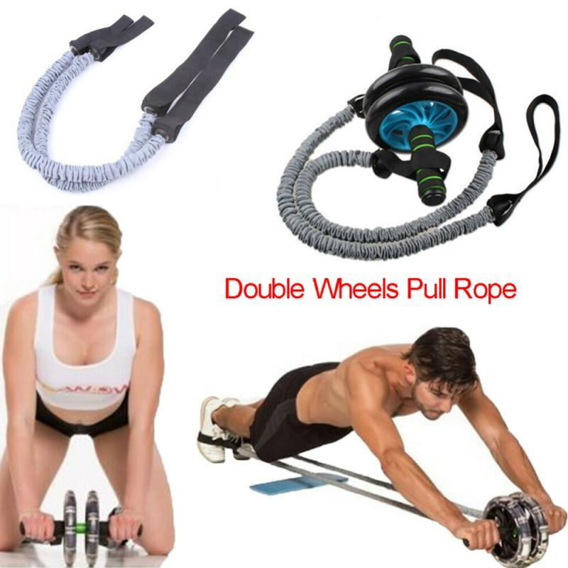 WHEEL ROLL WITH PULL ROPE AB DOMINAL WAIST ABDOMINAL BAND TRAINING ROLLER