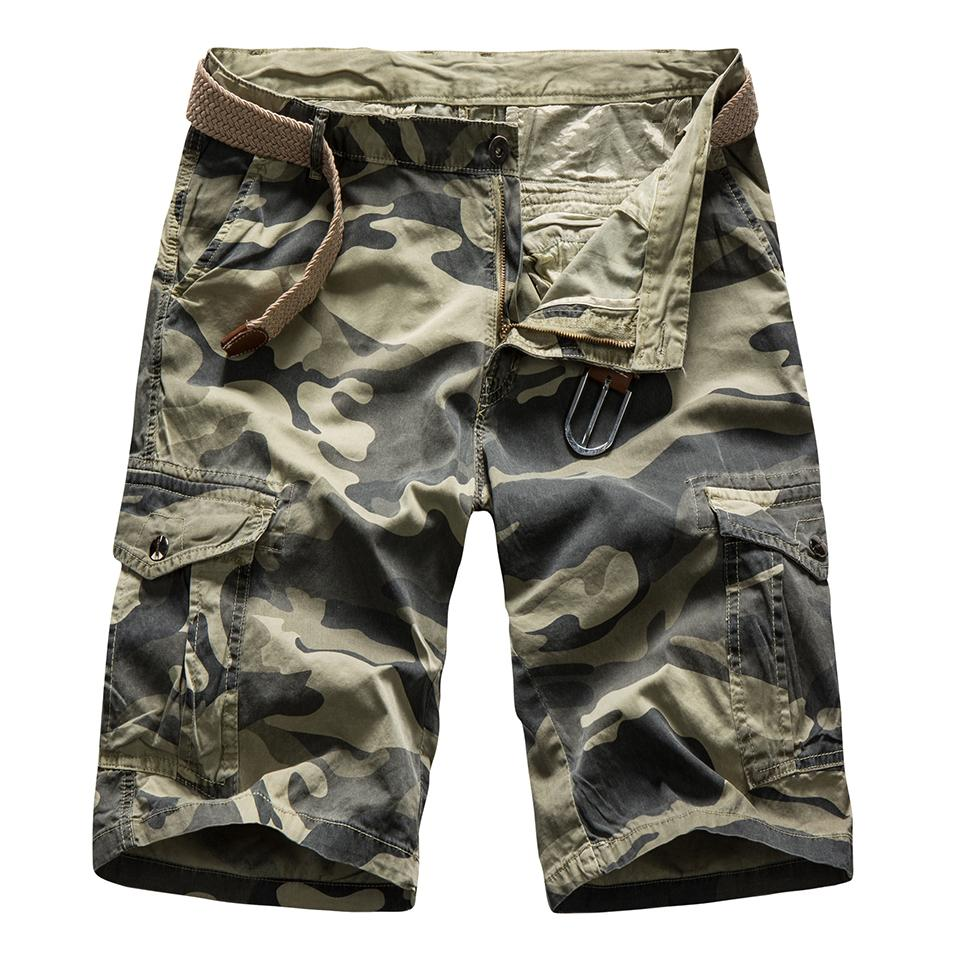 40-46 Plus Big & Tall Size Men Cotton Multi Pocket Casual Cargo Shorts Men Military Camouflage Loose Fit Twill Cargo Shorts Men Y19071601