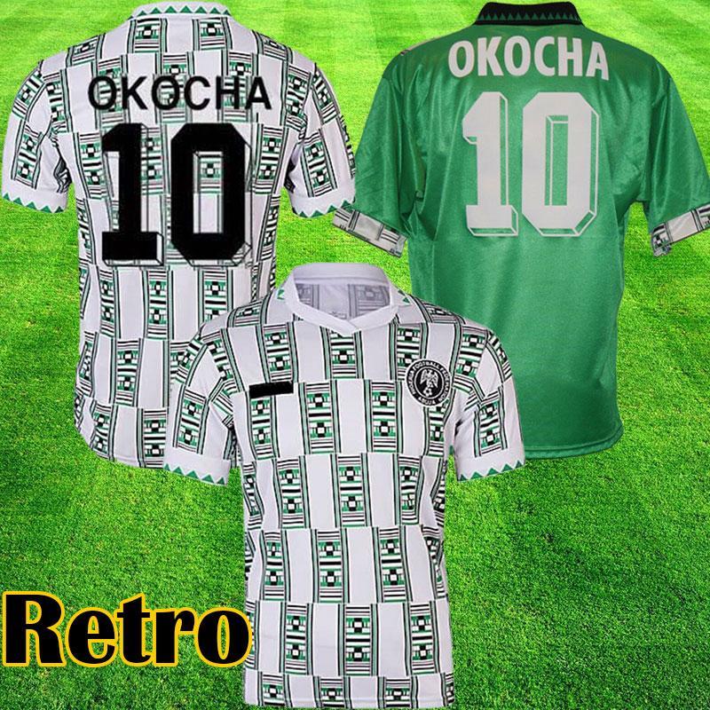 Топ 1994 Нигерия ретро футбол футбол 94 винтажные футбольные рубашки Окоча Джерси Екини Finidi Classic Maillot de ohot