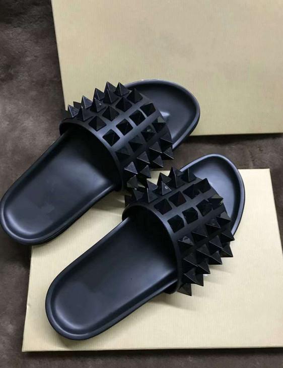 Top Donna Willow lusso pantofole Nail Designer Red Bottoms scarpe da uomo ciabatte ribattino dei punti piatti