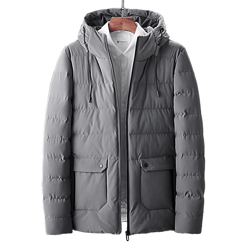 Men's Down & Parkas High-quality Cotton-padded Winter Jacket Warm Hooded