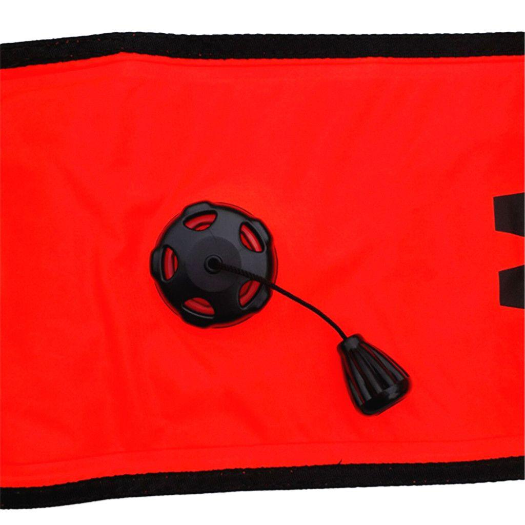 4FT Scuba Diver Tauchen SMB Surface Marker Boje Fingerspule Reel Whistle
