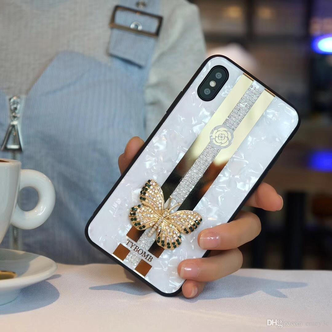 ملف هاتف فراشة ثلاثي الأبعاد لـ iPhone XR XS MAX 11 Pro Max Cover for iPhone 7 8 6 Plus Case