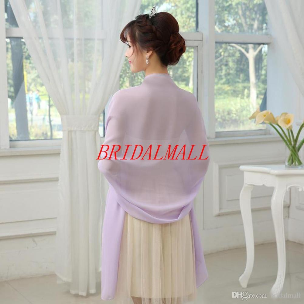 Free Shipping Lavender White Chiffon Wedding Bridal Bolero Jackets Cheap Mother Of The Brides Jackets Cape Wraps bridal accessories