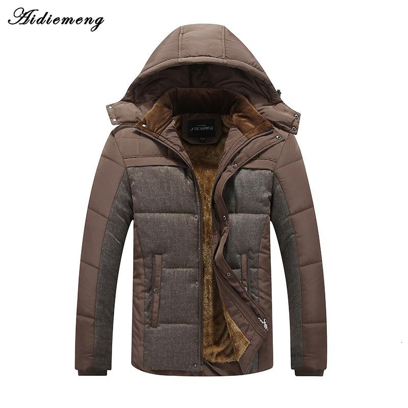 Men's winter jacket Aideemeng Parka Fashion Cotton hat Men's overcoat jacket