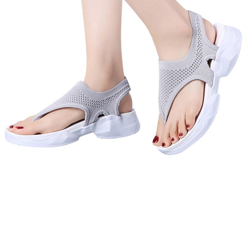 Sagace Kadınlar Sandalet 2020 Yaz Bayan Nefes Kama Klip Ayaklar Uçan Dokuma Mesh Günlük Ayakkabılar Yeni Popüler çevir flop Sandalet