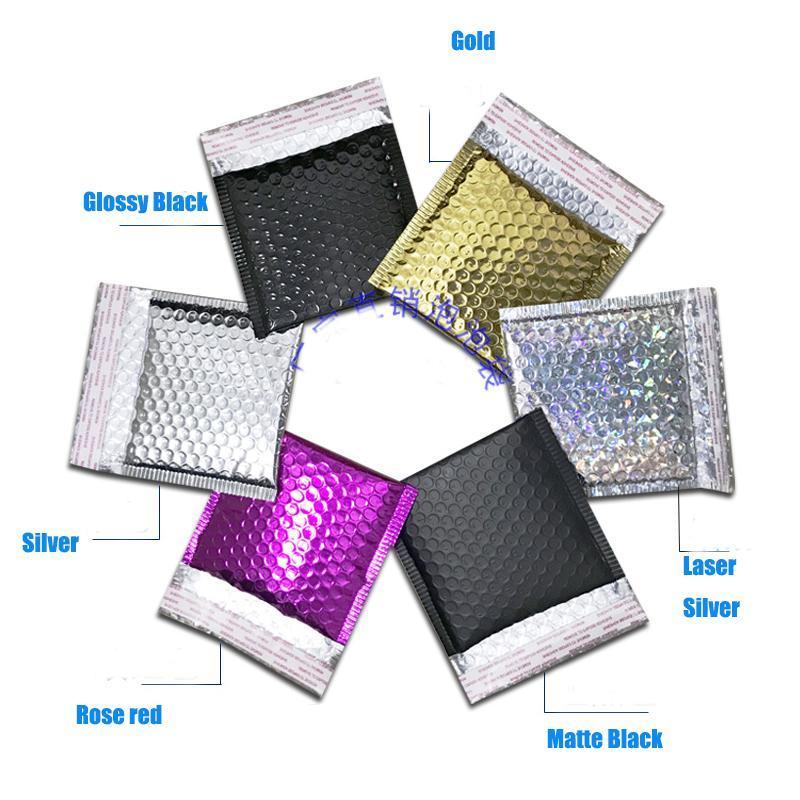 DHL gratuito 15 * 13 centímetros + 4 centímetros CD / CVD embalagem de transporte da bolha Mailers ouro papel Envelopes acolchoados presente saco plástico de bolhas Mailing Bag Envelope