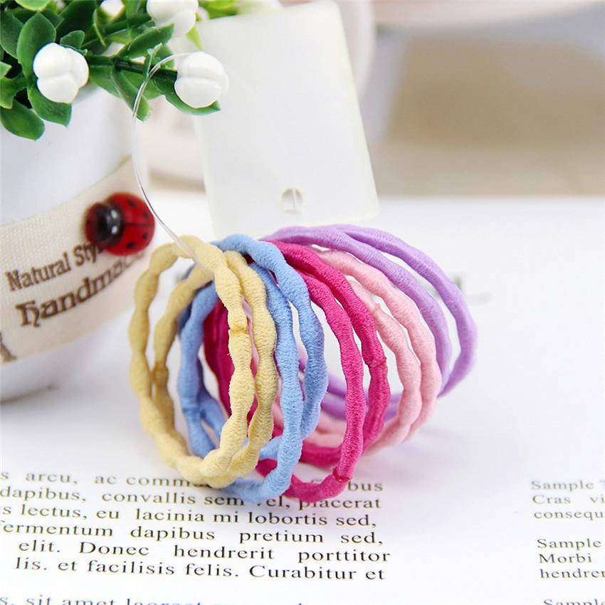 IN-Baby-Makronen Süßigkeit-Farben-elastische Haar-Bänder Kinder-Gummiband-Haarband Frauen Scrunchie Frühlings-Kind-Haar-Seil-Accessorie E3605