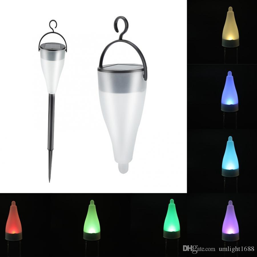 1PCS LED Color changing Solar Diamond Stake Lights Garden Lawn Pathway Lamp DSUK