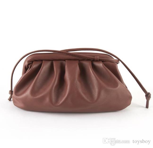 Pelle Donna cloud Borsa morbida spalla signora singolo Slant Dumpling della borsa del giorno innesta borse Messenger Bag