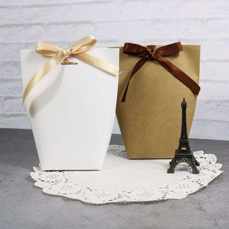 Спасибо Merci Bag Bag Свадьба Рождения вечеринка Доступные Сумки ручной работы Сумка Сумка Конфеты Ювелирные Изделия Галстук Упаковка Складная коробка XD22837