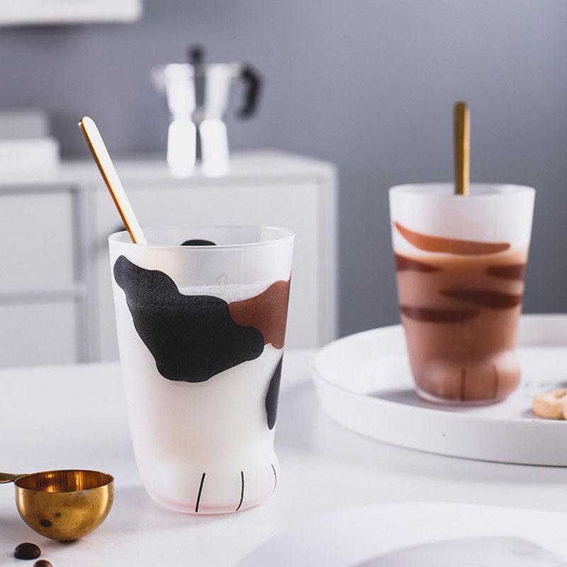 Творческий Cute Cat Лапы Glass Tiger Paws Кружка Офис Кружка кофе массажер Индивидуальный завтрак Milk фарфоровая чашка подарков
