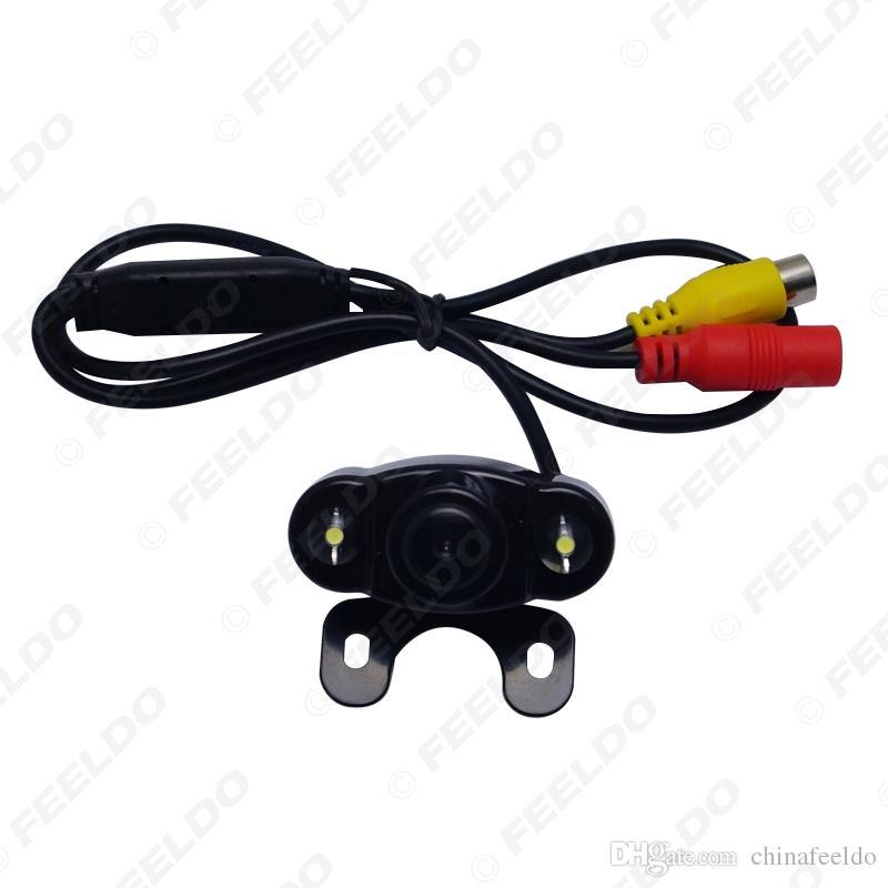 Araç Ters Sistemi Park Kamera # 4788 için LED Işıklar ile toptan 12V Oto Araç Geri Görüş Kamerası