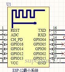 ESP8266 schematic file uart wifi module ESP8266-12 UART-WIFI module ESP12 ESP-12 Microsystem Free Shipping