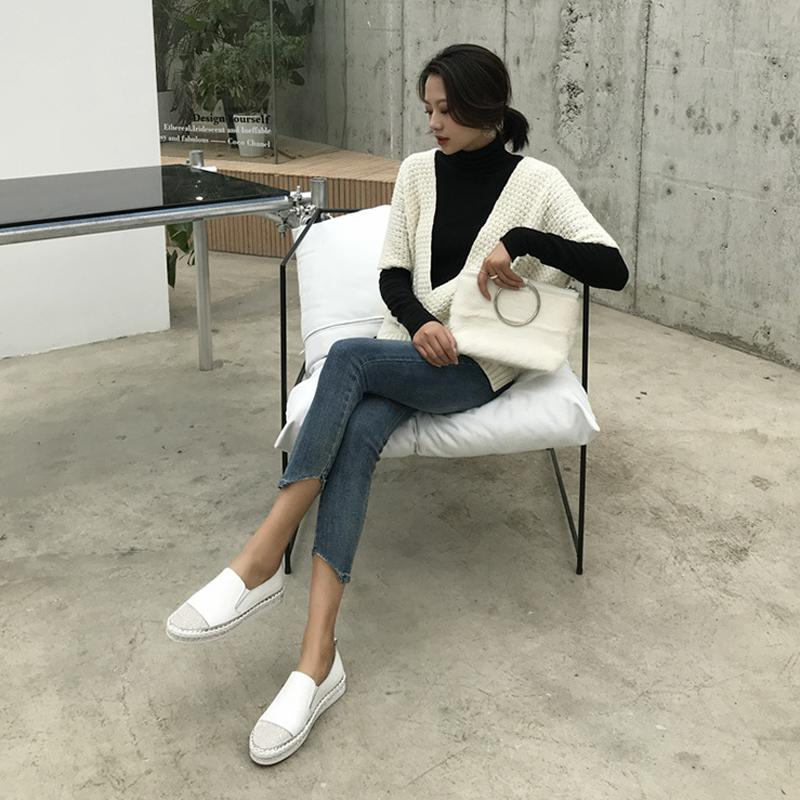 Ю. Кубэ натуральная кожа Мокасины Обувь 2019 Повседневный Кристалл Rhinestone Женщина Flats кроссовки дамы вождения обувь Zapatos де Mujer