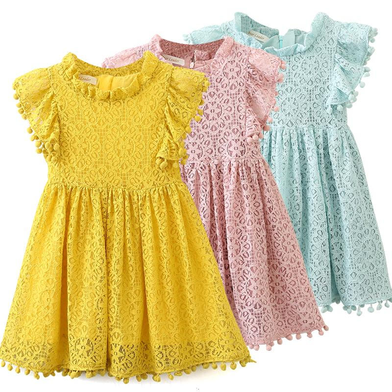 7b517e51be0 2019 Girls Dress 2019 New Summer Brand Girls Clothes Lace And Ball Design  Baby Girls Dress Party Dress For 3 7 Years From Qinqin342, $0.56   ...