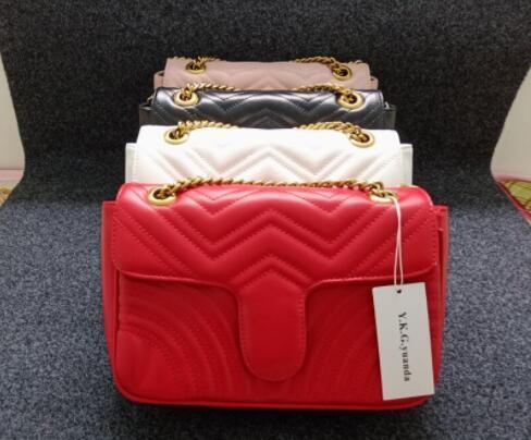 2019 caldo di vendita Classic Design Top pelle di pecora reale LOEWS Donne Borse Business signora ultima borsa spalla di lusso di modo del lavoro di make-up Bag