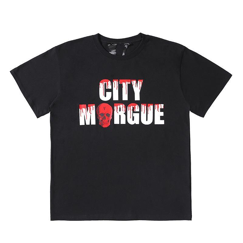 Vlone nuevas mujeres de los hombres del estilista camiseta de Hip Hop de Calle Vlone verano de algodón de manga corta de Gran V Logo Mujeres monopatín camisetas S-XL