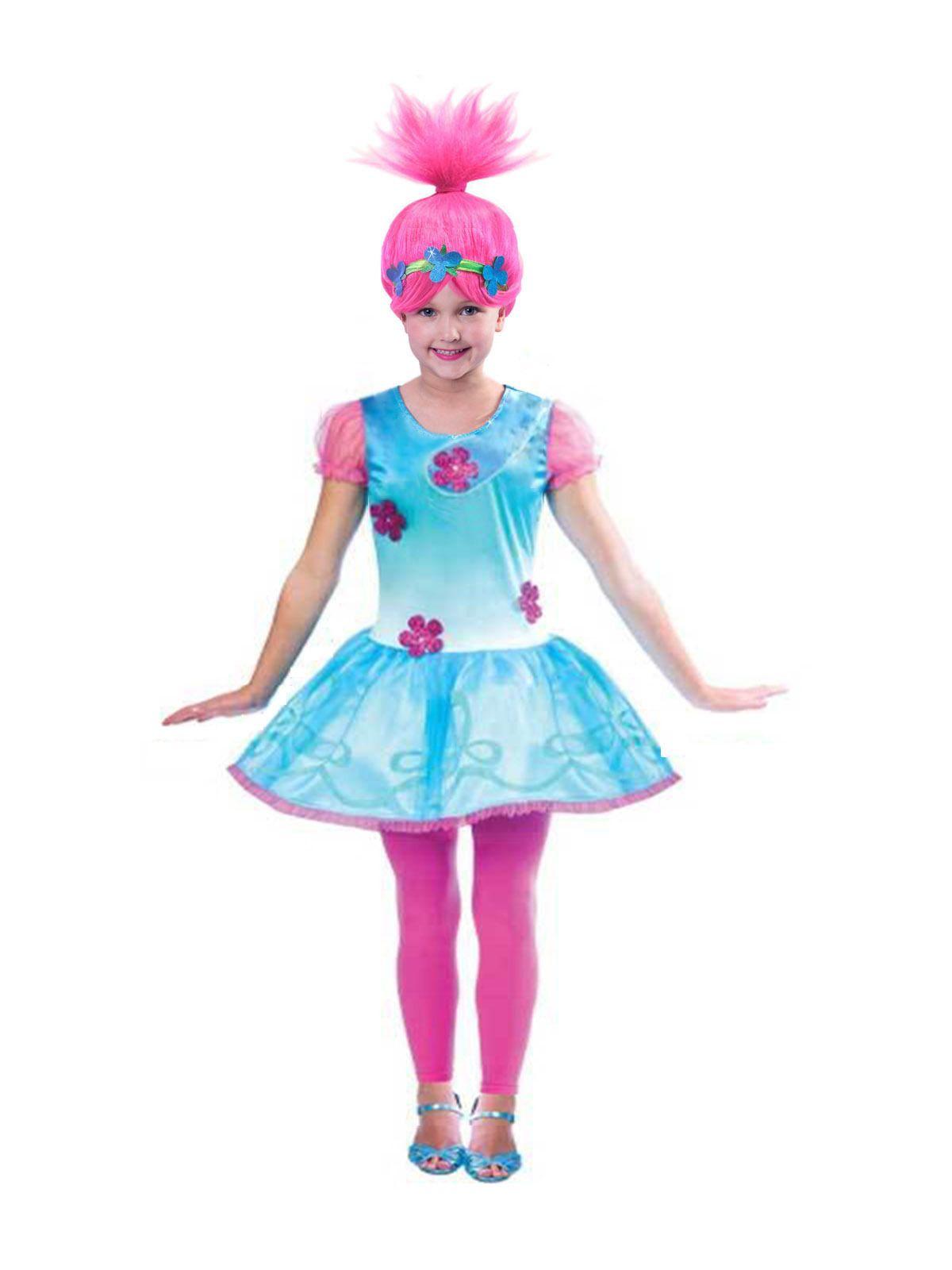 Новый год Тролли Мак Косплей костюмы Платья для девочек Бобо Рождество платье девочку Одежда Карнавальные костюмы парик Set